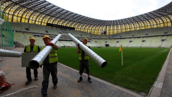 Het nieuwe voetbalstadion in Gdansk.