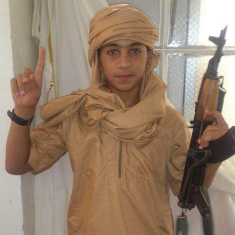 Younes Abaaoud, een van de jongere broers van Abdelhamid die op zijn dertiende naar Syrië trok.