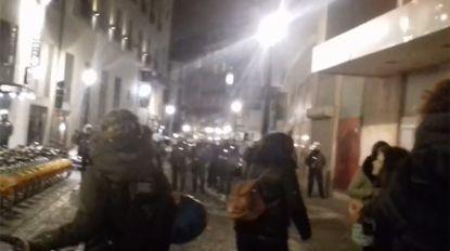 Zeventigtal mensen opgepakt bij niet-toegelaten feministische betoging in Brussel