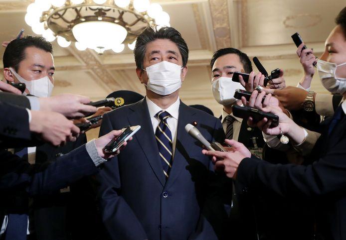 De voormalige Japanse premier Shinzo Abe.