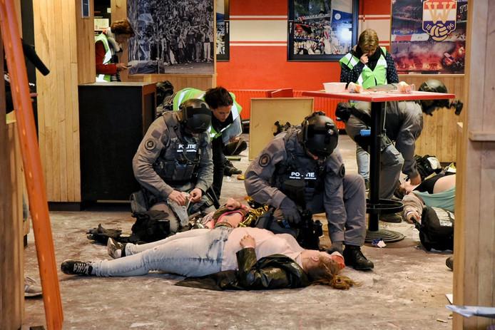 De grote rampenoefening in het Willem II Stadion in Tilburg.