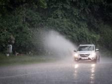 Le village de Wiers sous eaux à la suite de pluies torrentielles