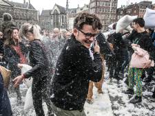 Kussengevecht op Gorcumse Langendijk voor Serious Request
