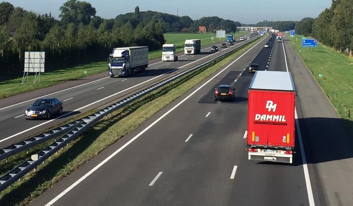 Verkeer op de A1. Foto: Sander Lindenburg
