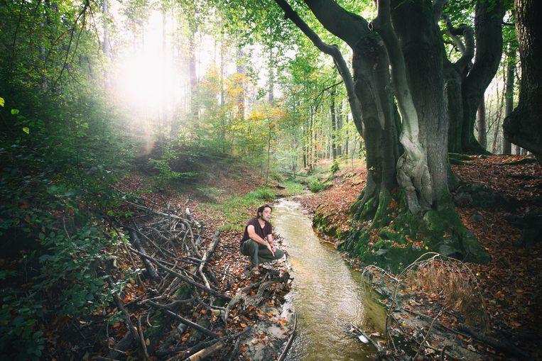 Frank Resseler in zijn natuurlijke habitat: het bos.