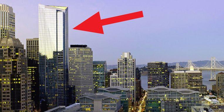 De Millennium Tower torent boven de skyline van San Francisco, maar zakt elk jaar enkele centimeters weg.