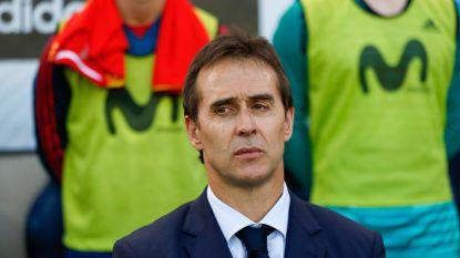 "Bondscoach Lopetegui moet opkrassen bij Spanje: ""Ik ben intriest"", Hierro leidt 'La Roja' in Rusland"