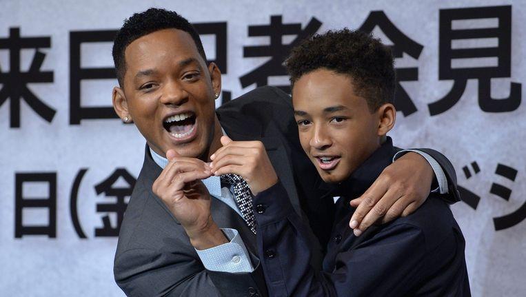 Will Smith en zijn zoon Jaden in 2013.