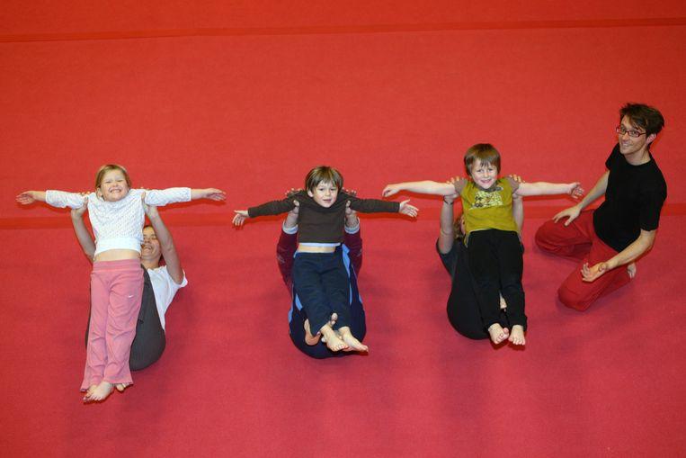 De lessen vinden plaats bij circusschool Locorotondo.
