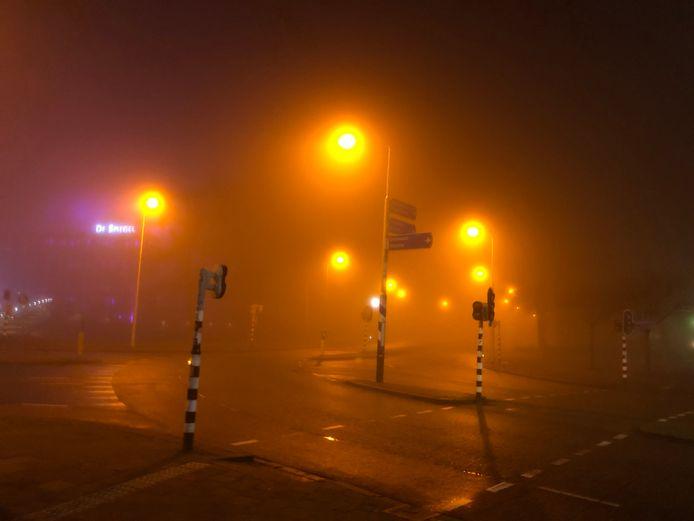 Mist in Zwolle vanochtend.