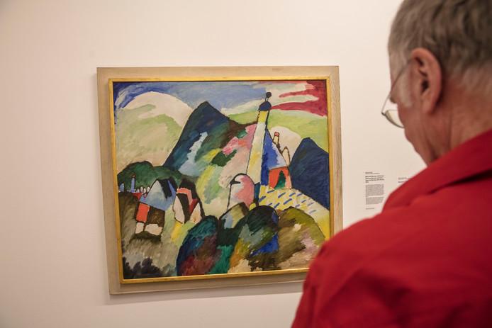 Het betwiste schilderij van Kandinsky in het Van Abbemuseum.