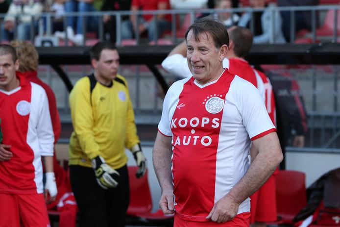 Jaan de Graaf in het shirt van IJsselmeervogels.