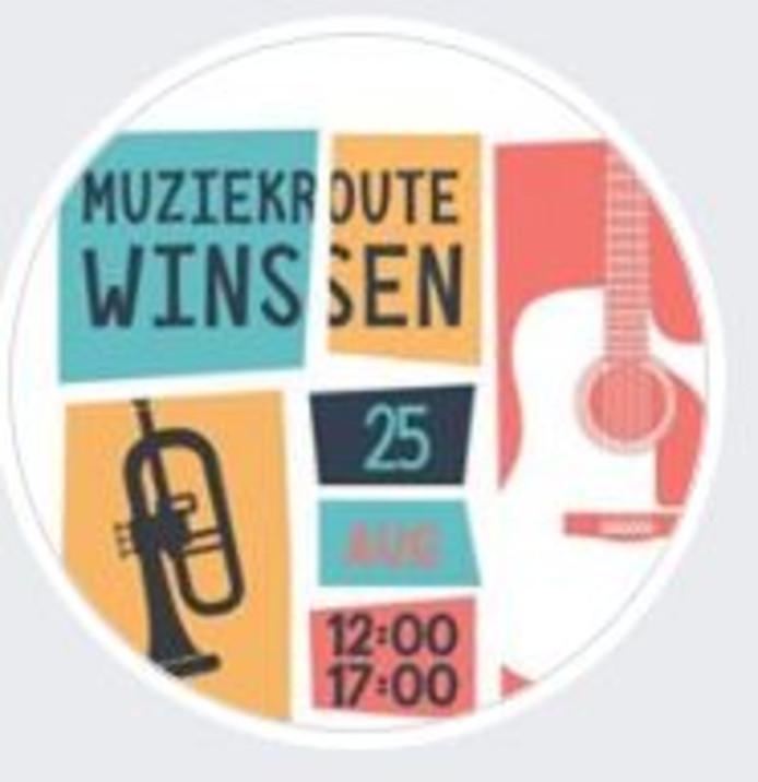 Het logo van Muziekroute Winssen.