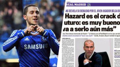 """10 jaar geflirt tussen Hazard en Zidane: """"Was ik Real, ik zou hem met de ogen toe vastleggen"""""""