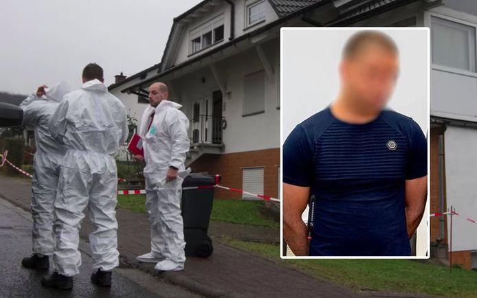 De 25-jarige Belg in de rechtbank van Laubach, in Duitsland.