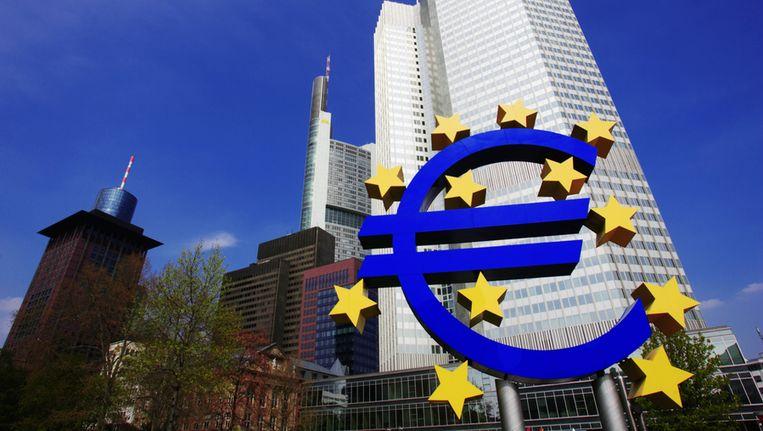 De ECB in Frankfurt. © Thinkstock Beeld