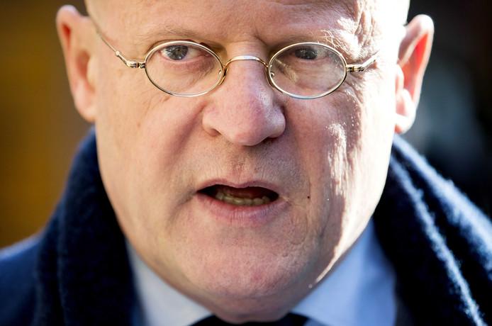 Ferd Grapperhaus, minister van Justitie en Veiligheid op het Binnenhof
