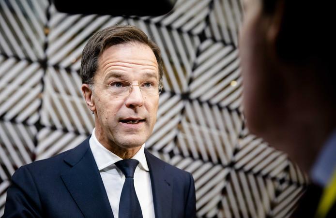 Premier Mark Rutte voor aanvang van de Europese top over klimaatverandering en langetermijnbegroting