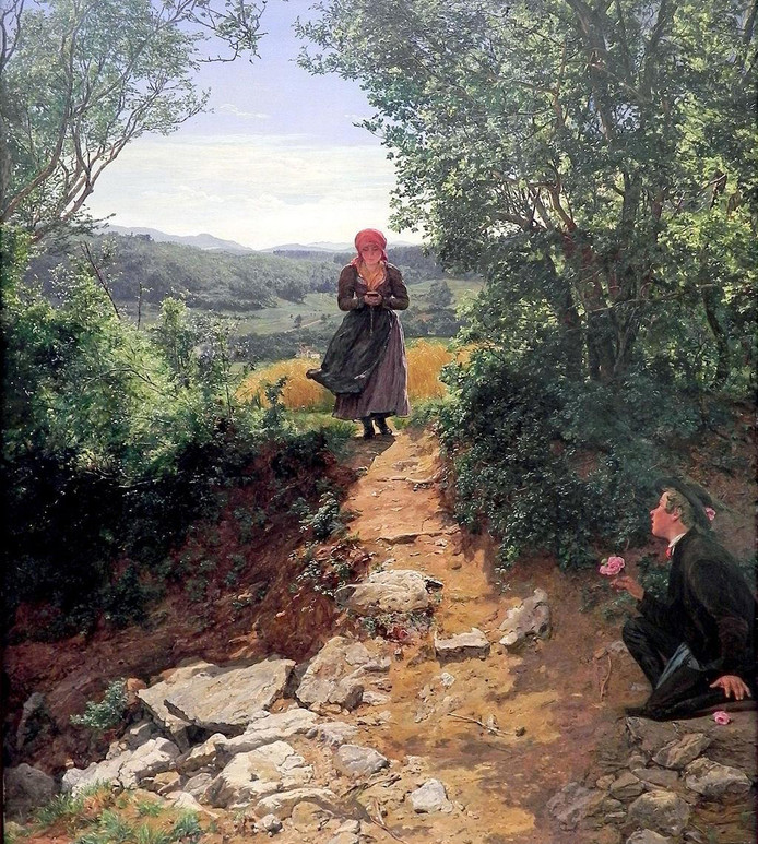 Het schilderij 'De Verwachte'.