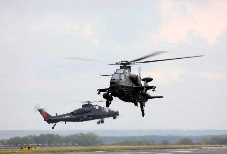 Enkele helikopters van Changhe Aircraft Industries Corporation: een Chinese producent van helikopters en leverancier voor het leger.