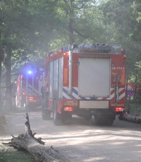 Bladblazer veroorzaakt stofwolk en alarmeert daarmee 11 brandweerwagens rond Apeldoorn