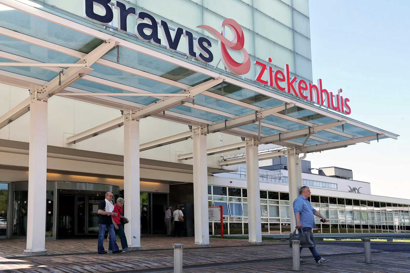 De hoofdingang van het huidige Bravis ziekenhuis in Bergen op Zoom