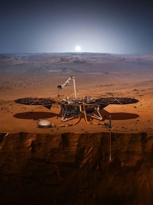 InSight gaat metersdiep de marsbodem inboren om de rode planeet te ontfutselen zijn geheimen te ontfutselen.