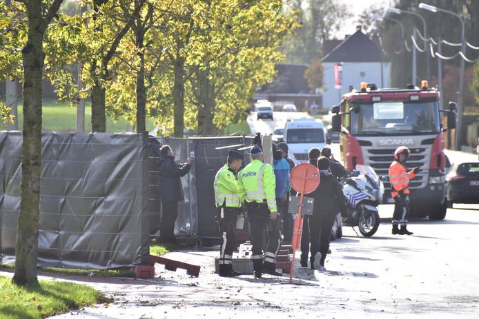 Les lieux du crime, sur la chaussée de Mouscron à Aalbeke