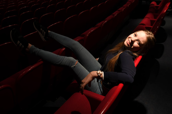 Mirte van Geel (14) voelt zich het meest thuis op het podium.