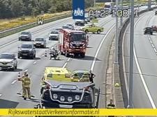 A12 deels dicht door ongeval