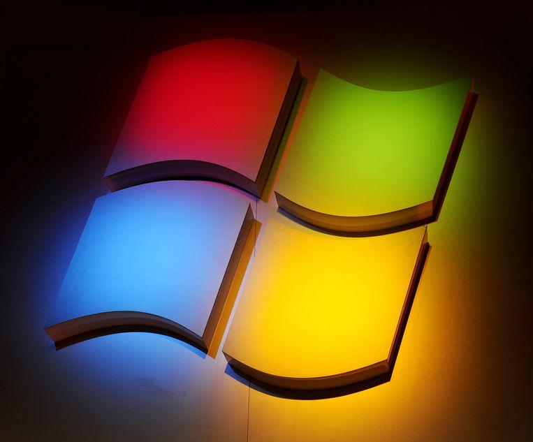 Het logo van Microsoft. Beeld AFP