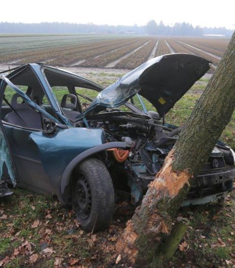 Bestuurster raakt van de weg en botst tegen boom in Helvoirt