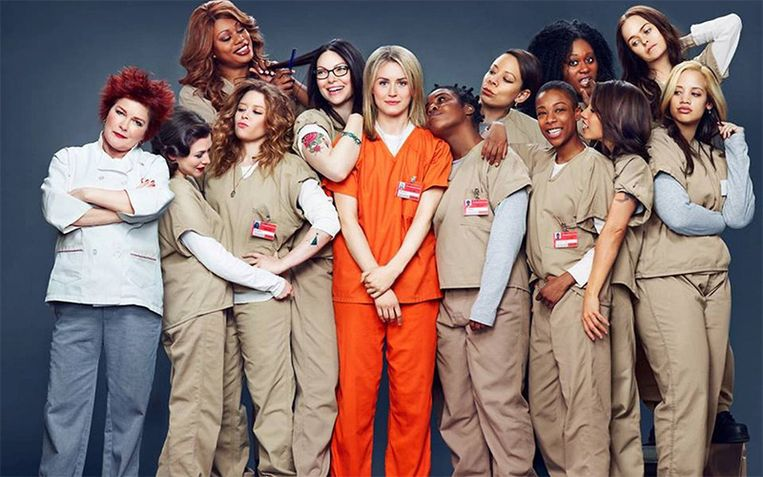 De cast van de succesvolle Netflix-serie 'Orange Is the New Black'.