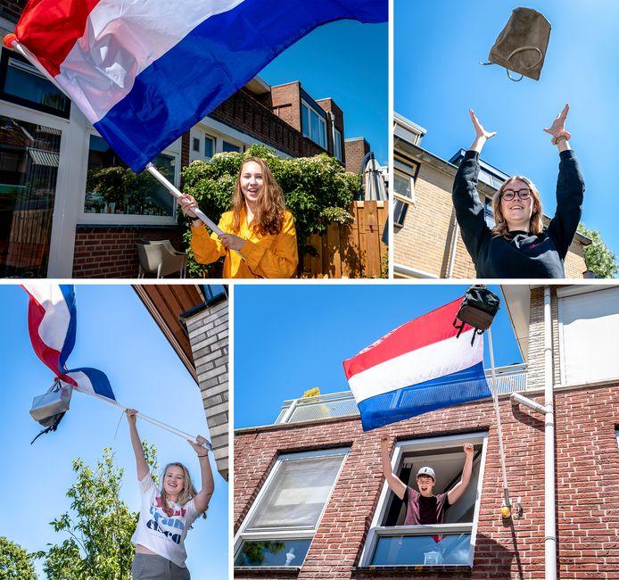 4 juni is het officiële einde van de middelbare schooltijd, dus de vlaggen mogen uit.