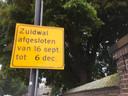 Zuidwal dicht van 16 september tot 6 december