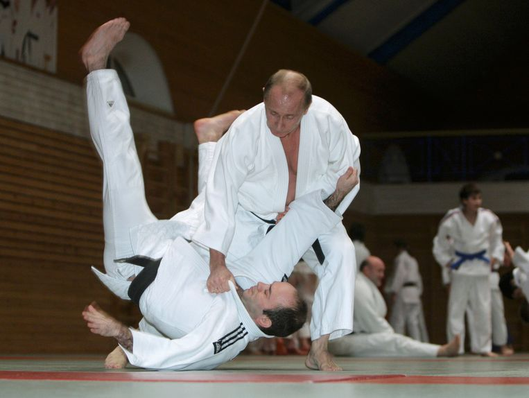 In 2016 in Sint-Petersburg: Poetin tijdens een judotraining.