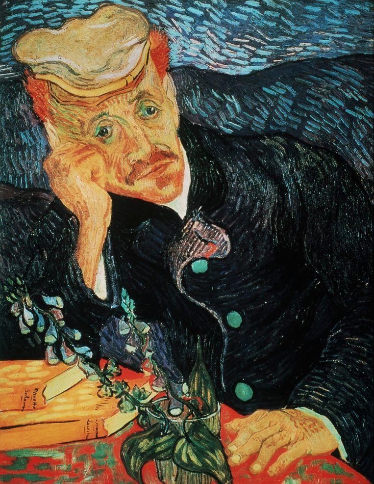 'Portret van Dr. Gachet', geschilderd door Vincent Van Gogh.