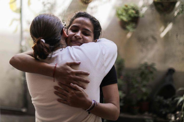 Amaya's familie hield in Esteli, een stadje op 150 km van hoofdstad Managua, een feestje om de vrijlating te vieren.