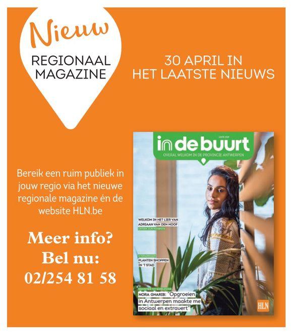 Wil je meer info over advertentiemogelijkheden voor het In De Buurt Magazine, bel 02/245 81 58.
