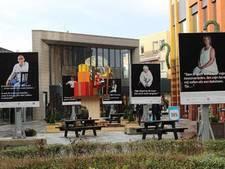 Levensgrote billboards tegen huiselijk geweld bij Cityplaza Nieuwegein