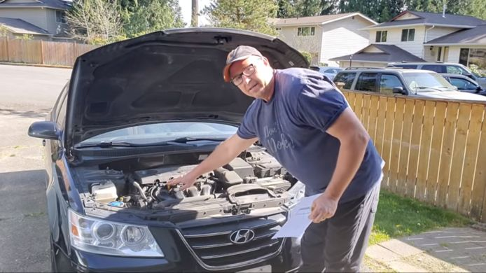 Screenshot: Dad, how do I? - How to check your car's oil.