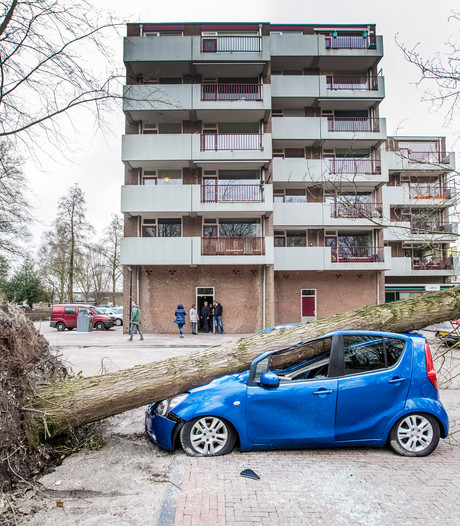 Apeldoornse auto in puin: 'Normaal staat die ergens anders'