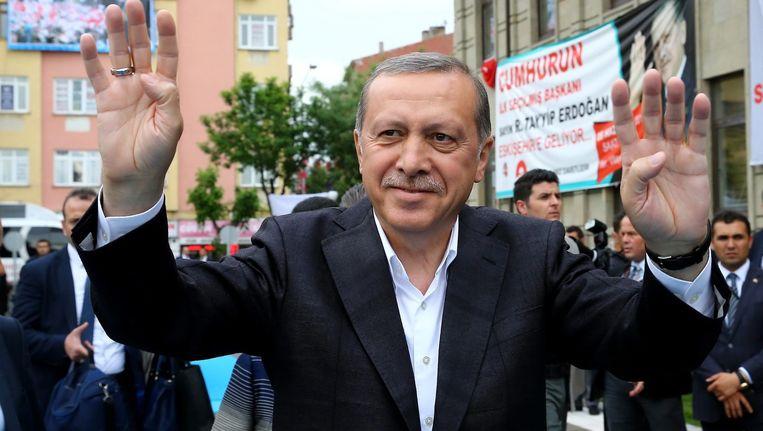 Erdogan, vorige week in Ankara. Beeld epa