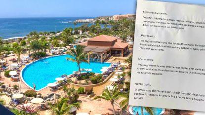 """110 Belgische toeristen vast in hotel op Tenerife door coronavirus: """"Briefje onder deur geschoven dat we op kamer moeten blijven"""""""