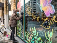Kleur spat van de ramen tijdens Windows to the World in Eindhoven