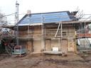 Verbouwing Koetshuis bij de Molenstraat, de kozijnen gaan aan het einde van deze week geplaatst worden.Foto Alfred de Bruin