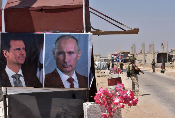 Rusland steunt samen met Iran het bewind van de Syrische president Bashar al-Assad.