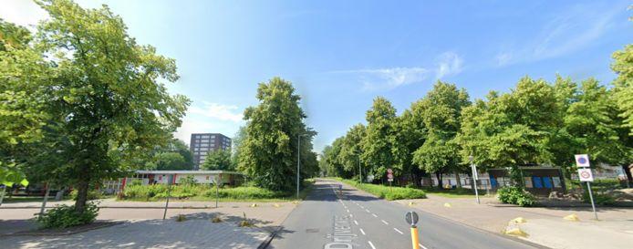 De J. Drijverweg, waarvandaan de vrouw vertrok.