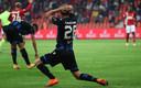Mats Rits kan het niet geloven. Een strafschop in blessuretijd voor Standard Luik