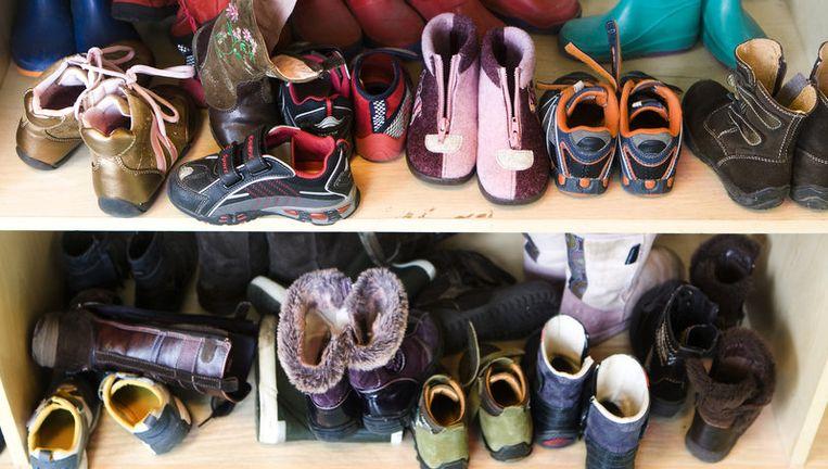 De kinderen zijn niet met de drugs in aanraking gekomen omdat de bolletjes boven 'grijphoogte' lagen waarin schoenen worden bewaard. Foto ANP Beeld